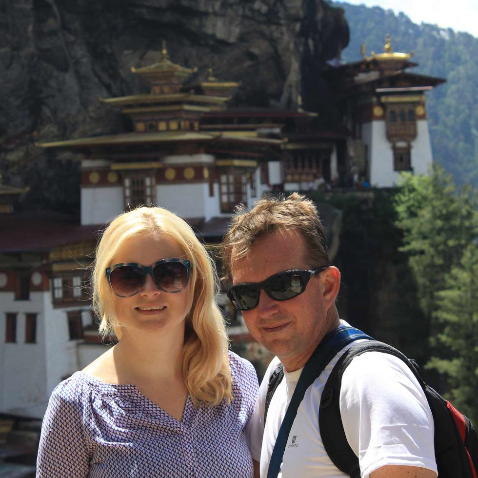 Me in front of Tigers Nest, Bhutan