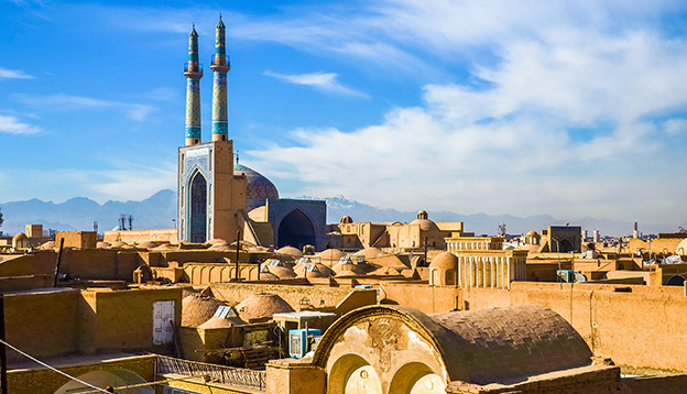 View of the historic centre of Yazd - Iran. Photo Credit: Shutterstock.
