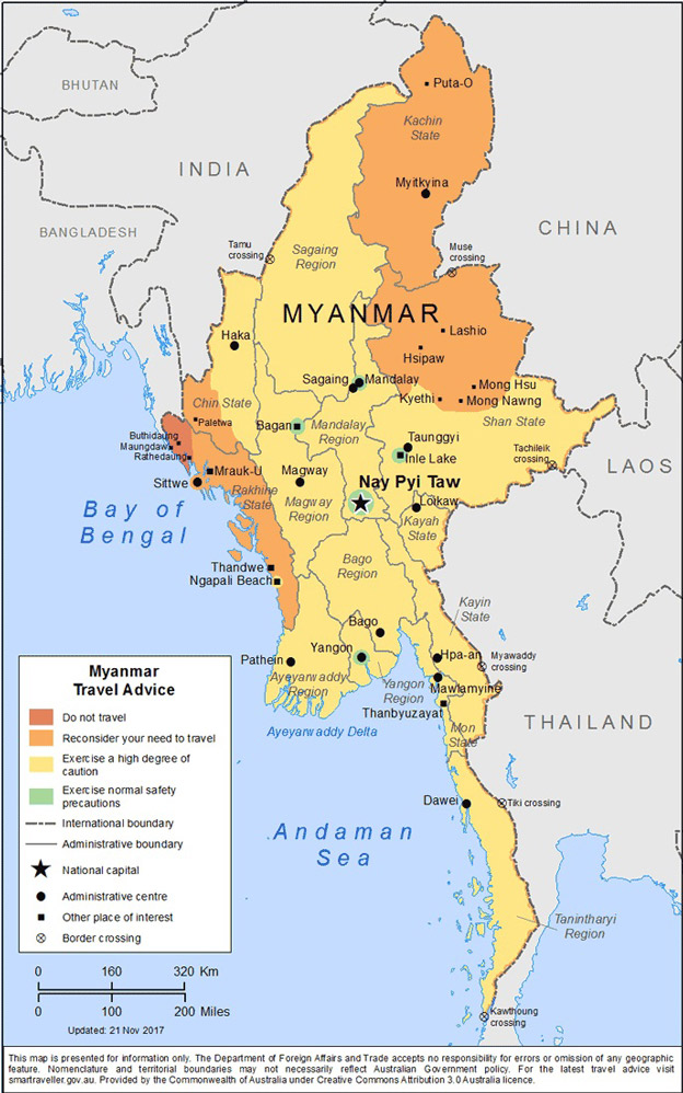 Map of Myanmar. Photo Credit: Australian Department of Foreign Affairs and Trade