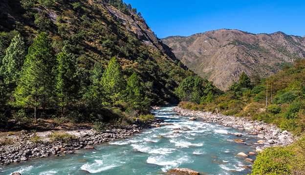 River from Langtang trek in Nepal. Photo Credit: Shutterstock