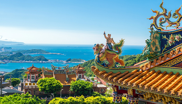 Temple at Jiufen Old Street in Taipei Taiwan. Photo Credit: Shutterstock
