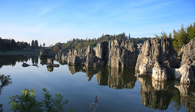 Limestone formation at the Shilin Stone Forest National Park, near Kunming, China. Photo Credit: Shutterstock