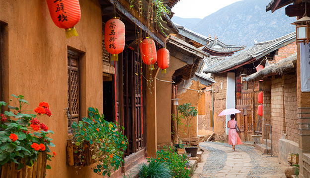 The streets of the old town Shaxi in Yunnan province. Photo Credit: Shutterstock