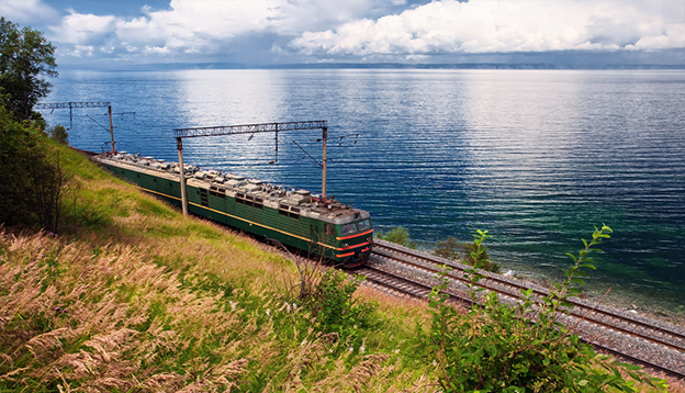 Riding the southern fringes of Lake Baikal. Photo Credit: Shutterstock