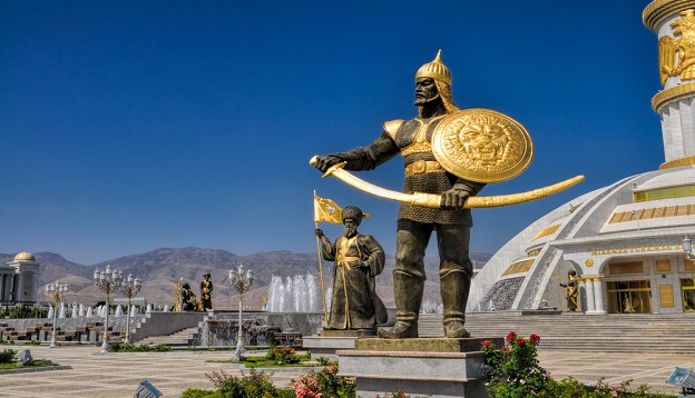 The monument of Independence in Asgabat, Turkmenistan.